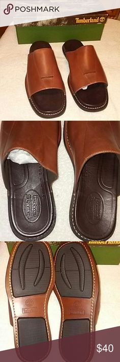 NWB TIMBERLAND SLIDES 13 NWB TIMBERLAND SLIDES 13 COGNAC Timberland Shoes Loafers & Slip-Ons