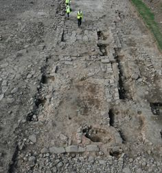 Roman Settlement Unearthed at Maryport Archaeologists are exposing new finds at the largest Roman period civilian settlement along the Hadrian's Wall frontier. Roads And Streets, Roman Roads, Roman Britain, Northern England, Hadrian's Wall, Archaeology, Art History, City Photo, Romans