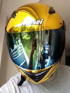 Masei 830 Gold Chrome DOT & ECE Helmet - sales@maseihelmets.com