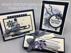 Stampin' Gala - Page 19 of 114 - Julie Gilson, Stampin' Up! Stampin Up Christmas, Christmas Cards To Make, Xmas Cards, Diy Cards, Holiday Cards, Alpine Adventure, Scrapbook Cards, Scrapbooking, Winter Cards