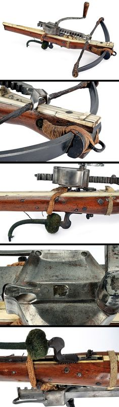 A crossbow with its windlass, Germany, ca. 17th century.: