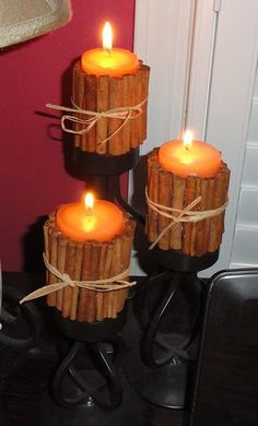 Fall Cinnamon Stick Candles