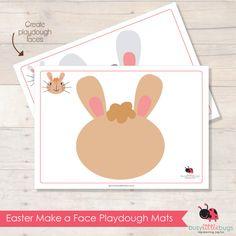 Cute preschool activity for Easter- Make a Face Playdough Mats.