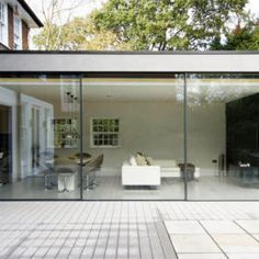 Exterior Rear House Doors - The last few years have noticed an enormous increase in the amount of reported burglaries and ho Aluminium Sliding Doors, Sliding Patio Doors, Sliding Glass Door, Glass Doors, Glass Extension, Roof Extension, Extension Ideas, Building Front, House Doors