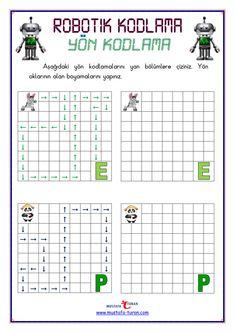Robotik Yön Kodlama Etkinlikleri Dare Messages, 3 Year Old Activities, Preschool Writing, Montessori, Worksheets, Printables, Math, Reading, Blog