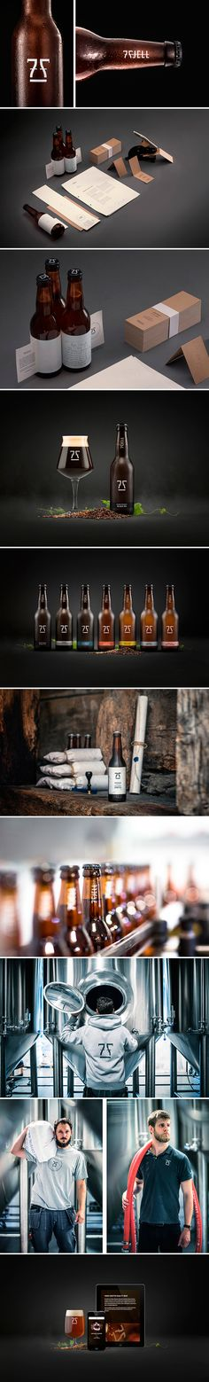 Nice #design! 7 Fjell #Brewery #packaging #bottle #beer