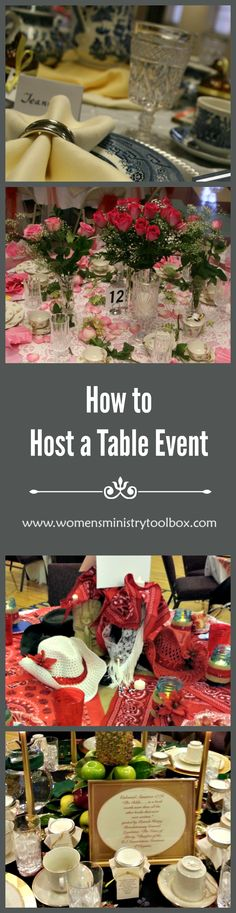 table Archives - Women's Ministry Toolbox How to Host a Table Event - Includes dcor ideas, planning timeline, and a detailed list of teams needed. Make sure your table event goes off without a hitch! From Women's Ministry Toolbox. Event Themes, Party Themes, Party Ideas, Event Ideas, Craft Gifts, Diy Gifts, Church Ministry, Ministry Ideas, Womens Ministry Events