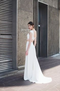 Crop Top Wedding Dress by Collection 2017 Mademoiselle de Guise //