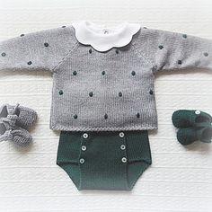Com Maria Carapim In - Diy Crafts - maallure Baby Knitting Patterns, Knitting For Kids, Baby Patterns, Knitting Wool, Knitting Ideas, Layette Pattern, Pull Bebe, Diy Bebe, Baby Pullover