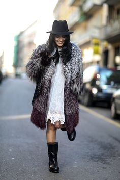 major fur moment with a hat. Milan.