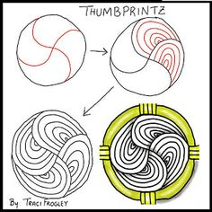 Zentangles: Thumbprintz