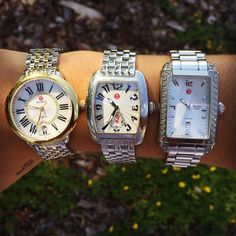 Timeless! Shop all of our Michele watches on www.mymoshposh.com! #michelewatches #timeless #michele #inlove #classic #trendy #luxury #fashion #beautiful #armcandy #moshposhfinds #mymoshposh #designerwatches #designerconsignment