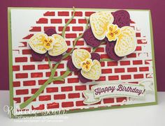 Stampin' Up! Climbing Orchids, Seasonal Layers thinlits - ESAD Blog Hop - Rebecca Scurr - Independent Stampin' Up! demonstrator - www.facebook.com/thepaperandstampaddict