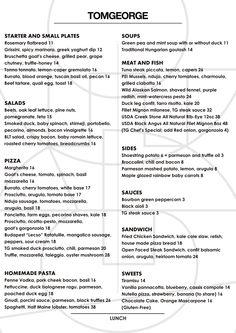 menu Pea And Mint Soup, Gym Interior, Tuna Steaks, Greek Yoghurt, Green Peas, Goulash, Small Plates, Goat Cheese, Chutney