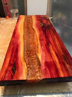 This Cedar River Table Copper Color is just one of the custom, handmade pieces you'll find in our coffee & end tables shops. Diy Resin River Table, Wood Resin Table, Wooden Tables, Do It Yourself Furniture, Live Edge Furniture, Resin Furniture, Tree Furniture, Wood Table Design, Table Designs