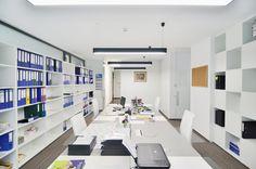 Corporate offices interior design in Bucharest - Corporate Offices, Marble Wood, Interior Design Work, Bucharest, Office Interiors, Wood Furniture, Landscape Design, Shelving, Minimalism
