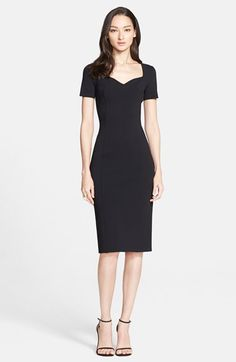 Free shipping and returns on St. John Collection Sculpture Knit Sweetheart Dress at Nordstrom.com. Deftly raised seams visually slim the figure in this densely knit sheath dress. A sculpted sweetheart neckline, short sleeves and knee-grazing length give the style a slightly vintage feel.