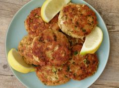 tuna patties recipe | Pamela Salzman & Recipes 2 6-ounce cans tuna 2 tsp Dijon mustard ½ cup panko bread crumbs/ ritz crackers 1 tsp lemon zest 1 Tbs. lemon juice 1 Tbs. water 2 tbs. parsley 2 tbs. chopped green onions or chives ½ tsp. salt and a few grinds of pepper A couple dashes of hot sauce or tabasco 1 large egg  3 Tablespoons olive oil 1 Tablespoon butter