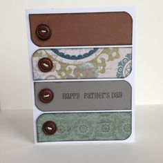 Avonlea Father's Day card. Pattern from CTMH Make it From Your Heart book.