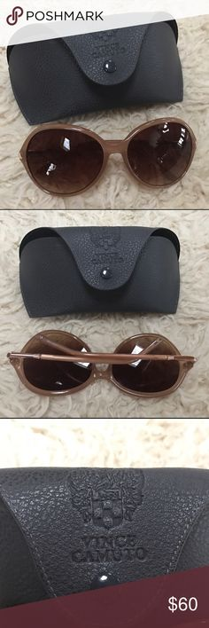 Vince Camuto Over-Sized Sunglasses Tried on a few times before I decided they didn't fit my face. Love them and they are in perfect condition - no scratches or scuffs on lenses, and the frame is in perfect shape. Comes with carrying case. Make me an offer! Vince Camuto Accessories Sunglasses