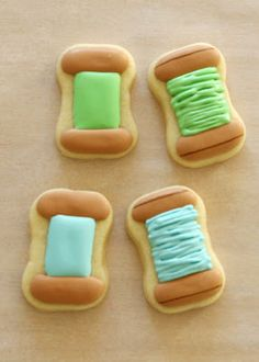 ~ How to Make 'Spools of Thread' Cookies ~