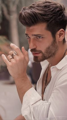 Stylish Mens Outfits, Stylish Boys, Turkish Men, Turkish Actors, Beautiful Men Faces, Character Portraits, Hair And Beard Styles, Male Face, Haircuts For Men