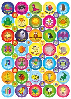 inch and inch Captioned Compilation Reward Stickers: 4 Sheets, 236 Stickers Teacher Stickers, Reward Stickers, Weight Benches, Teacher Favorite Things, Certificate Templates, Teaching Materials, Sticker Design, Gym Workouts, Projects To Try