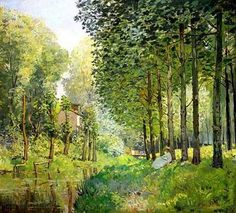 Rest by the Bank of the Ruisseau, 1872, Alfred Sisley