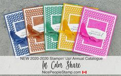 The NEW 2020-2022 Stampin' Up! In Colors are STUNNING!  Spread out your purchase of the new In Colors by joining the In Color Share. You get the products you want, without having to purchase everything at one time. Perfect for cardmaking, scrapbooking, and so many more handmade crafty projects. #stampinupcanada #stampinup #cardmaking #stamping #handmade #scrapbooking #crafting