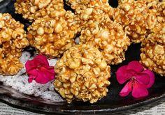 Popcornowe szyszki z solonym karmelem Snack Recipes, Snacks, Popcorn, Cauliflower, Cereal, Vegetables, Breakfast, Food, Christmas Stuff