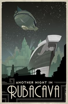 Vintage Travel Posters - Grim Fandango on Behance