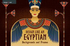 Egyptian Illustrations and Design Templates by wingsart http://crtv.mk/g08MU