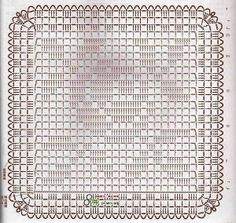 Crochet Rose Motif Filet Crochet Diagram.  Easy to follow. ☀CQ #crochet #crafts #DIY