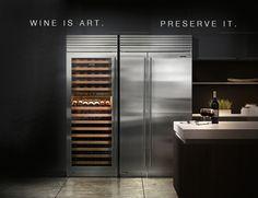 Sub-Zero Fridge/Freezer and Wine Cooler