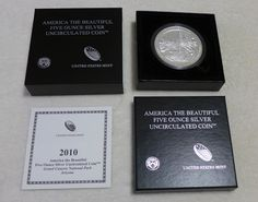 2010 P America The Beautiful Grand Canyon 5 Oz Silver 25C Collectors Issue Coin