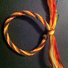 Unfinished kumihimo bracelet - 8 strand round weave