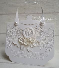 First Communion, Big Shot, Passion, Cards, Scrapbooking, Box, Ideas, Fantasy, First Holy Communion