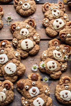 Huggable, lovable, and fun...Sweet and Salty Teddy Bear Snickerdoodles. Homemade oatmeal cookies, shaped into the cutest, fattest little Teddy Bears! Homemade Oatmeal Cookies, Teddy Bear Cookies, Teddy Bears, Half Baked Harvest, Thing 1, Brown Butter, Vegetarian Chocolate, Sweet And Salty, Sweet Sweet