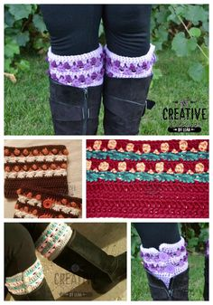 Twisted Treasures Boot Cuff - free crochet pattern from Creative Threads by Leah.