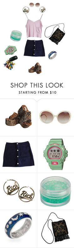 """""""Worst fashion decade ever"""" by thewitchishere ❤ liked on Polyvore featuring Stine Goya, Oscar de la Renta, Claudie Pierlot, G-Shock and Joyrich"""