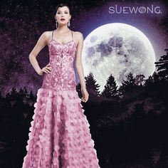 Sue Wong spaghetti strap gown with embroidered and jeweled bodice with full laser cut petal skirt… #teamsuewong #suewong #fashion #coutureinspired #picoftheday #glamorous #colorful