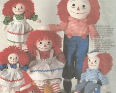 Raggedy Ann Raggedy Andy Pattern Clothes Different Sizes McCalls 2447 Craft Doll Sewing Pattern