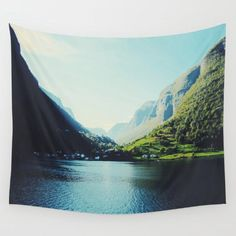 Mountains Wall Tapestry by Ingrid Beddoes #PrintedGift
