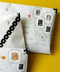 Papillon clic clac: Envelopper et poster !