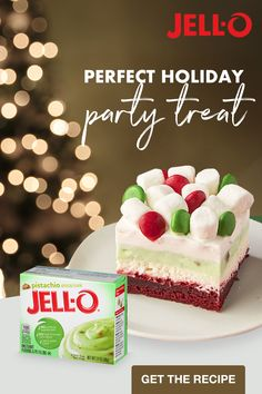 Treat your taste buds to the deliciously sweet layers of our Red Velvet Layered Dessert made with JELL-O Pistachio Flavor Instant Pudding. Tap the Pin to get the recipe. Christmas Deserts, Christmas Party Food, Christmas Brunch, Christmas Cooking, Holiday Desserts, Holiday Baking, Christmas Treats, Holiday Treats, Holiday Recipes