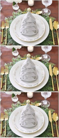 Do you know the ultimate Christmas dinner party hosting trick: How to fold a Christmas tree napkin? It may not seem like an essential party hack, but this trick will take your hosting credibility to the very top in just a few easy steps. The best part is, you don't need to spend days experimenting with linen origami. The creators behind this nifty video from Sand & Sisal already did that — so you only need to take two minutes. Head over to housebeautiful.co.uk to watch the video.