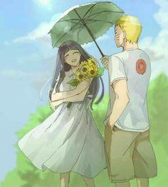 """Thanks for waiting for me Naruto-kun!!"" #Naruhina"
