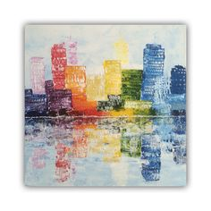 Skyline, acrylic painting on canvas 50x50cm by Erica Willemsen