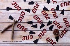Lumberjack One Confetti, Plaid One Confetti, Lumberjack Birthday Party by HannahbHandmade on Etsy https://www.etsy.com/listing/271133151/lumberjack-one-confetti-plaid-one