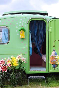 lilies and caravan